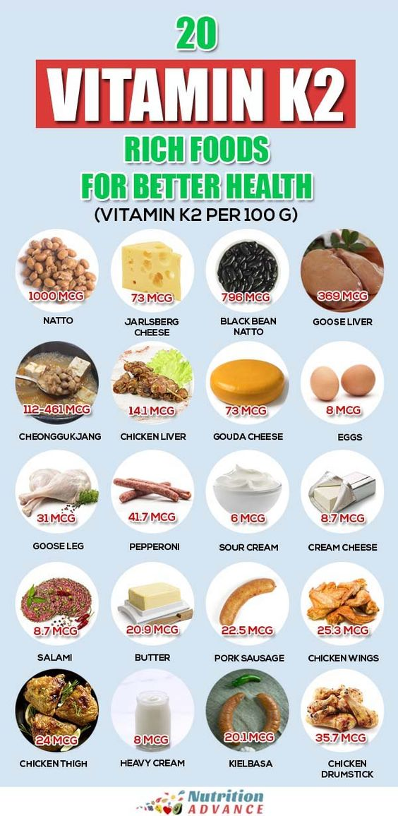 20 Vitamin K2 Rich Foods For Better Health (With the Vitamin K2 Per 100 g For Each Food) | Vitamin K2 is one of the least well known vitamins, but it is also one of the most important. This article presents 20 vitamin K2 rich foods. #vitamink2 #menaquinone #vitamins #nutrition
