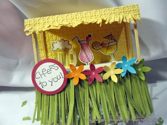 Island Tiki Drink Hut by Patti Lee - Cards and Paper Crafts at Splitcoaststampers