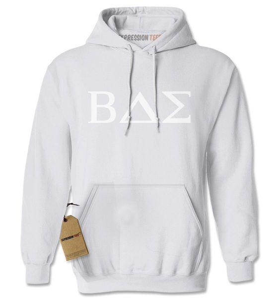 BAE Greek Lettering Fraternity Sorority Adult Hoodie Sweatshirt