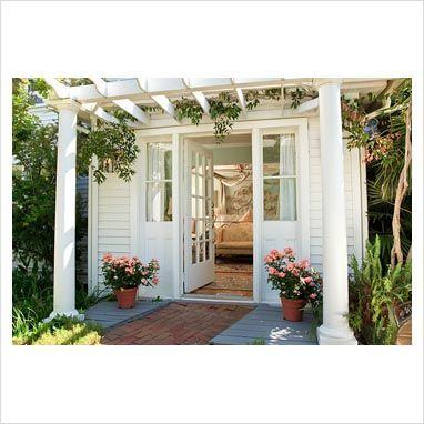 Pergolas front doors and doors on pinterest for Front door entrance patio
