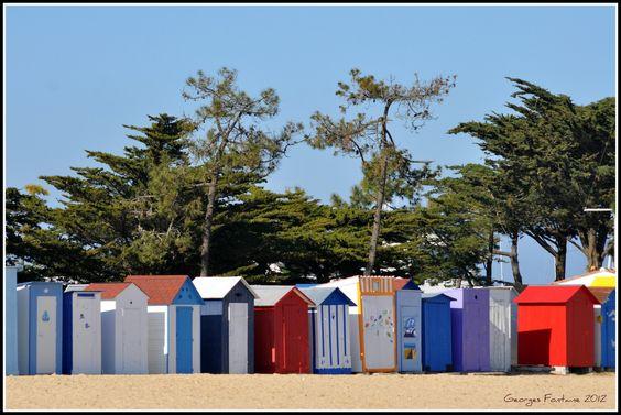 cabines de plage à Saint Denis d'Oléron