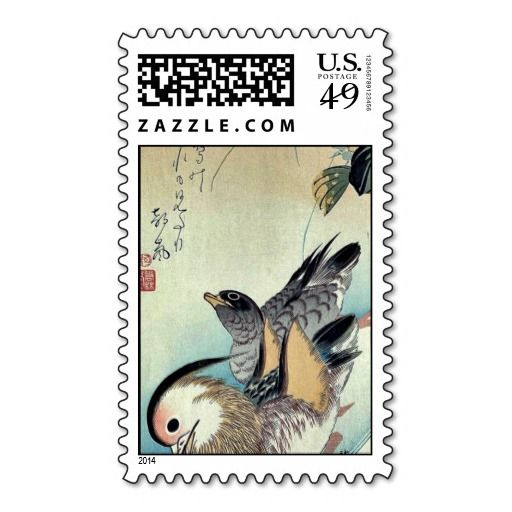 Mandarin ducks by Ando, Hiroshige Ukiyoe Stamp We have the best promotion for you and if you are interested in the related item or need more information reviews from the x customer who are own of them before please follow the link to see fully reviewsHow to          	Mandarin ducks by...
