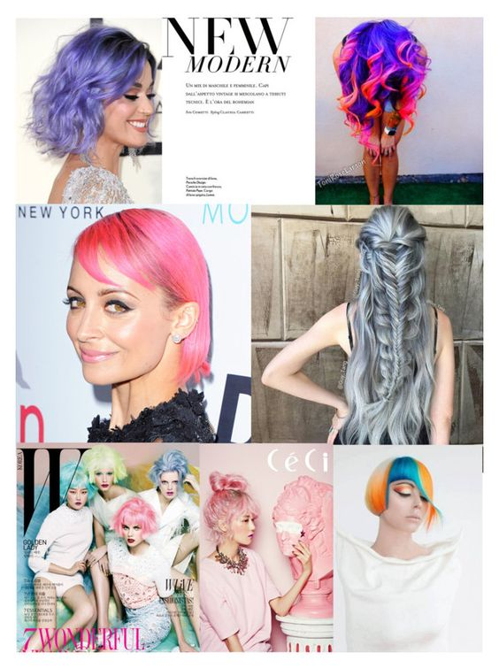 Colorful hair by intomyjeans on Polyvore featuring bellezza: