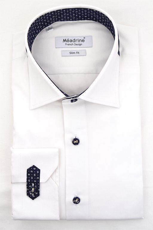 Chemise homme en coton blanc robe Gants