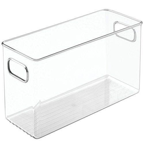 Homydelight 4 X 6 X 10 Inch Plastic Storage Bin 2 5 Lbs 4 Bathroom Storage Cabinet Storage Cabinets Plastic Storage Bins