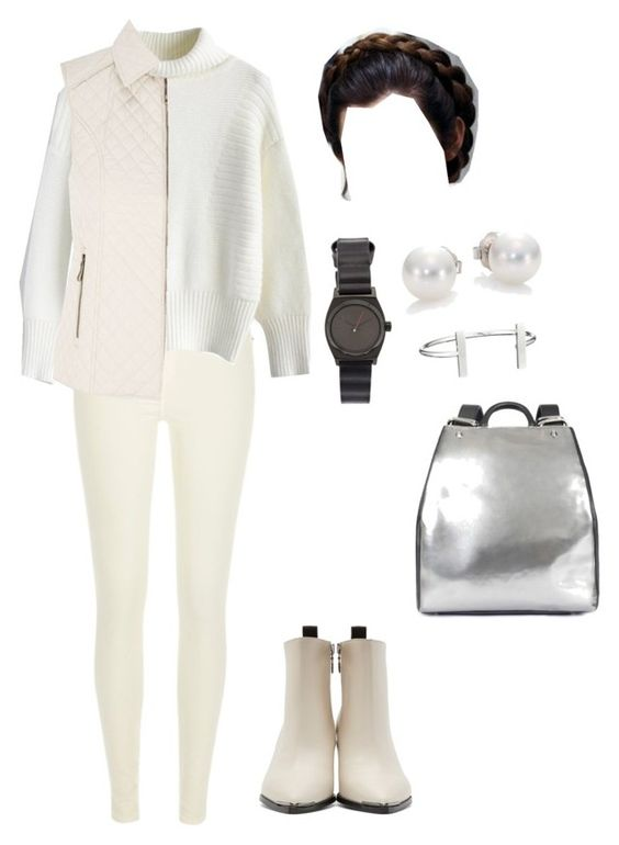 """Princess Leia Planet Hoth"" by msfrancescaaloe ❤ liked on Polyvore featuring River Island, Chicwish, CC, Nixon, Mikimoto, French Connection, Ruxx, Acne Studios, starwars and princessleia"