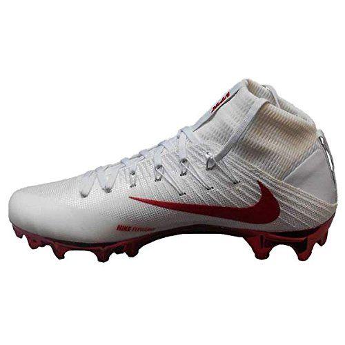 Amazon Com Nike Vapor Untouchable 2 Tb Football Cleats 16 White University Red Football Nike Football Football Cleats Cleats