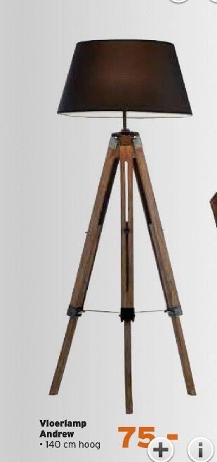 vloerlampen vloerlamp andrew 140 cm hoog folder aanbieding bij Kwantum   lampen staand   Pinterest