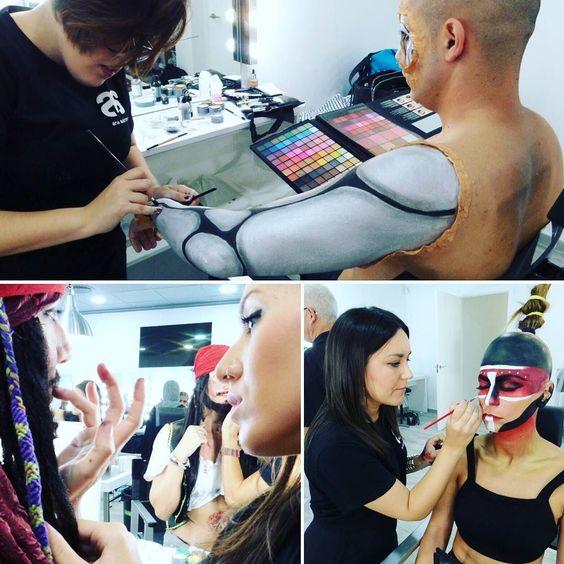 Que te parecen los exámenes de #caracterización de nuestros maquilladores? #grimas #bodypaint #hrp #artistic #makeup  #pepemarin