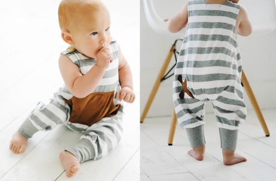 Baby and Toddler Striped Romper - Main Photo