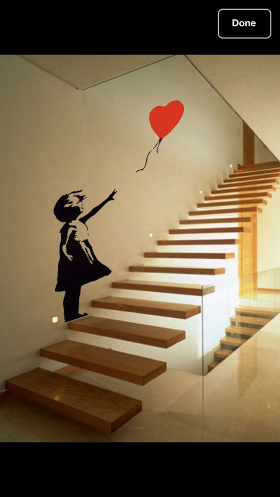 banksy stairs and stickers on pinterest. Black Bedroom Furniture Sets. Home Design Ideas