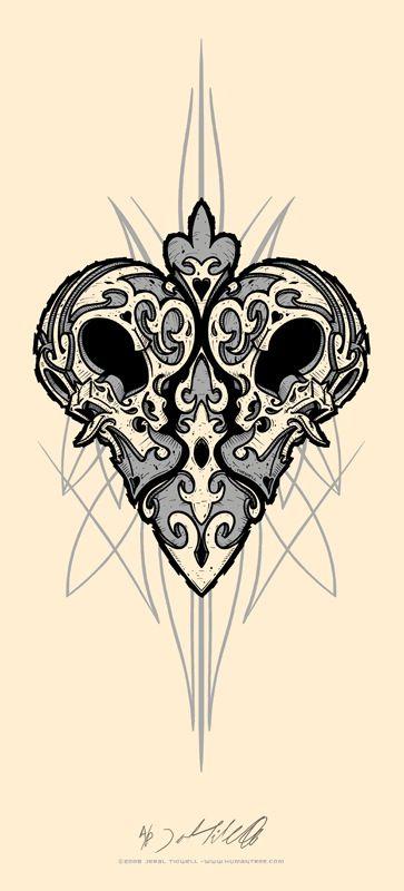 Jeral Tidwell: Twin Skulls w/ Pinstriping