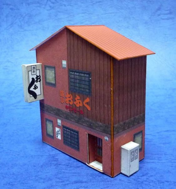 Japanese Bar Paper Model In HO Scale - by Paper Structures ...