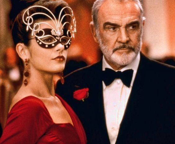 "Catherine Zeta Jones and Sean Connery in ""Entrapment"", 1999"