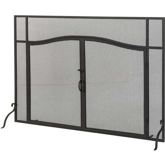 Inch W X 42 Inch H Prime Operable Door Arched Fireplace Screen ...