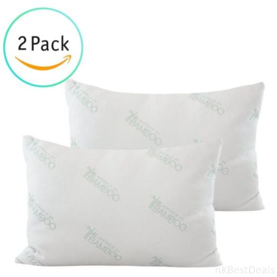 2 Pack Of Miracle Bamboo Pillows Memory Foam Pillow Stay Cool Bamboo Pillow New Deluxehome Bamboo Pillow Stay Cool Pillow Memory Foam Pillow