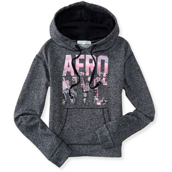 Aero NYC Pullover Hoodie ($20) ❤ liked on Polyvore featuring tops, hoodies, black, cotton hoodie, cotton hooded sweatshirt, black pullover hoodies, graphic pullover hoodies and black hoodie pullover