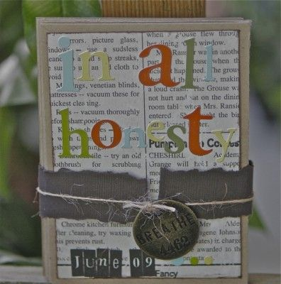 I love making these mini accordian albums.  Tutorial from Jessica Acs
