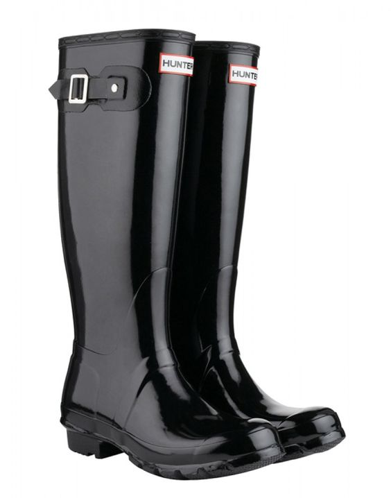 Hunter Original Tall Gloss Wellington Boots - Black   Country Attire