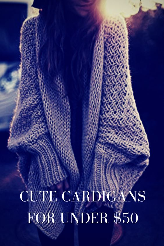 Cute cardigans for under $50