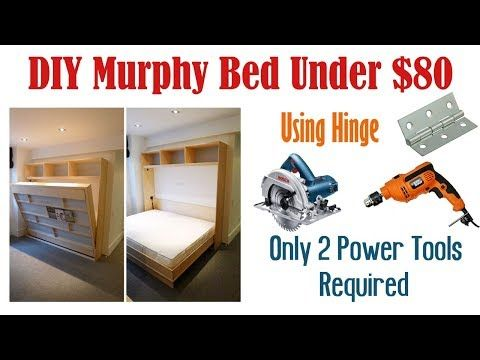 Diy Murphy Bed Without Expensive Hardware Homemade Wall Bed Youtube Lit Mural Lit Escamotable