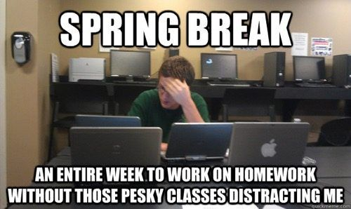 18 Memes About Spring Break 2018 Student Humor Funny Emails Medical Student Humor