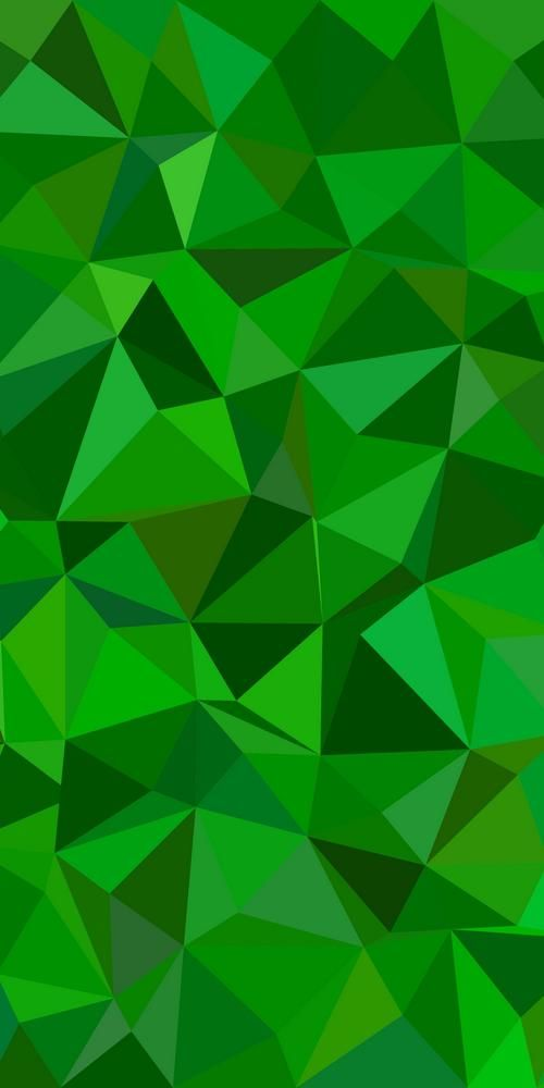 Green Abstract Irregular Triangle Tiled Background Vector