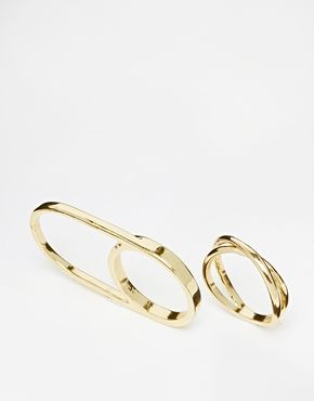 River Island Double Finger Multi Pack Rings