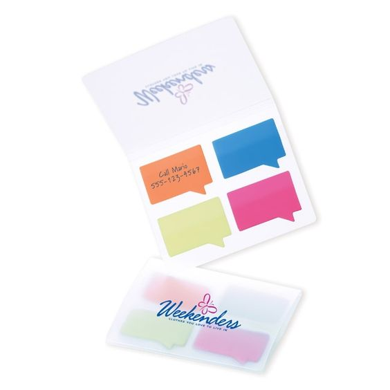 DK1051 Easi-Notes® Quotables - Imprint Method: Silk screened (Additional color) - Colors: frosted translucent