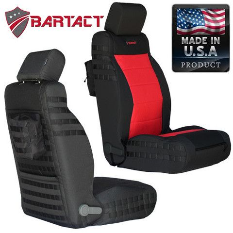 BARTACT Mil-Spec 2007-10 Jeep Wrangler JK Front Seat Covers (PAIR) - Non Air Bag Compliant
