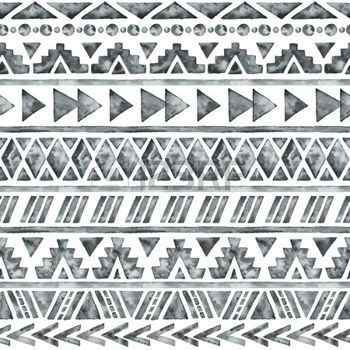 art am rindien aquarelle ethnique seamless mode azt que fond g om trique tir par la main. Black Bedroom Furniture Sets. Home Design Ideas
