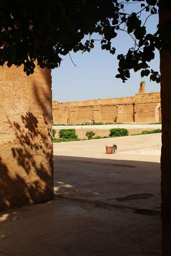 Palacio El Badi en Marrakech, Marruecos. Visita mi página web para ver más fotografías: https://unachicatrotamundos.wordpress.com/2016/08/03/marrakech-una-ciudad-de-colores-y-especias/