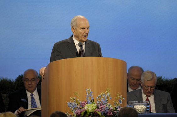President Russell M. Nelson, President of the Quorum of the Twelve Apostles, addresses new mission presidents and their wives, 2016 Seminar for New Mission Presidents.