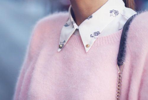 Pink collar sweater