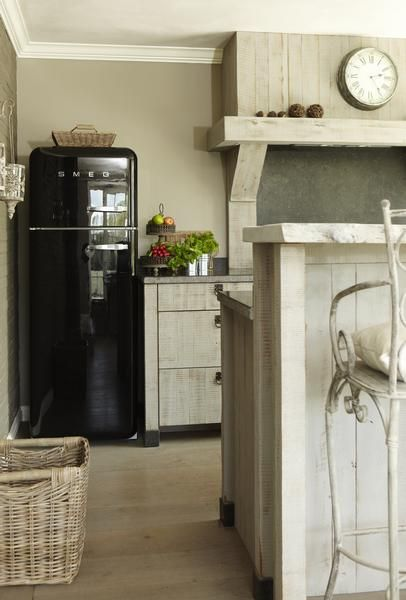 Keukens rustieke keukens and spoelbakken on pinterest - Redo keuken houten ...