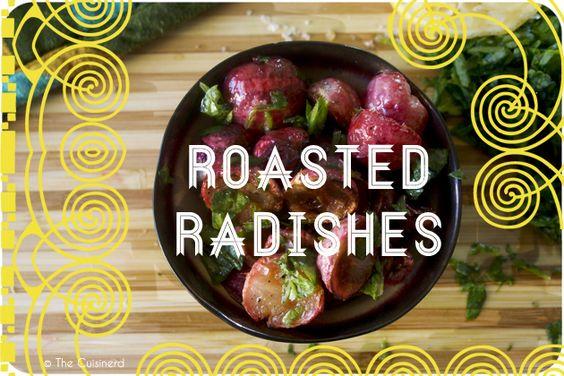 Roasted radishes