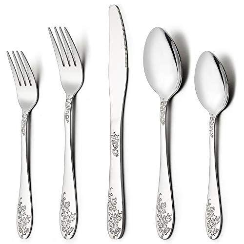 Lianyu 40 Piece Silverware Flatware Cutlery Set For 8 Stainless Steel Kitchen Restaurant Party Tableware Eating Utens Flatware Cutlery Cutlery Set Utensil Set