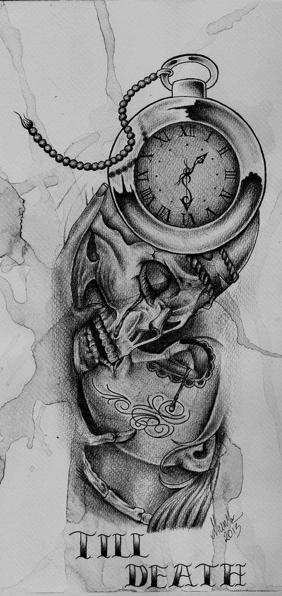 till death tattoo design by munky69deviantartcom on
