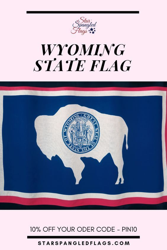 Pin On Wyoming State Flag Personalized Custom Merchandise Flags