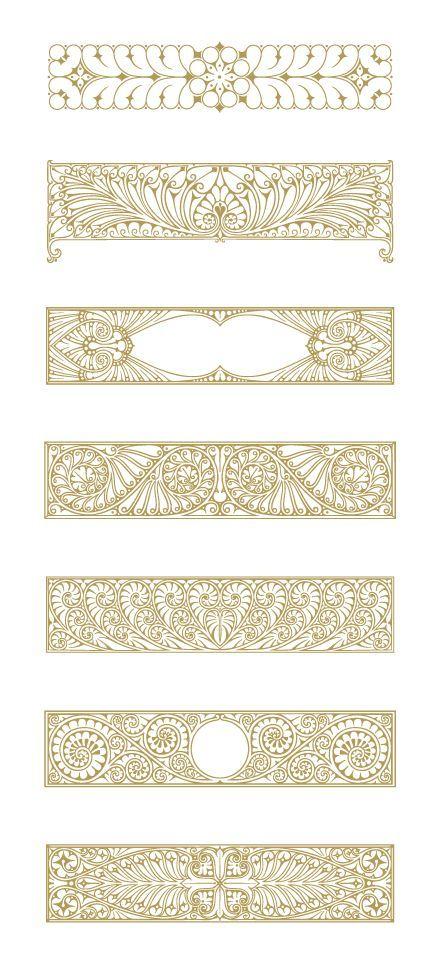 Art Deco Illustrations and Decorative Ornaments. Download 90 Vector Graphics.