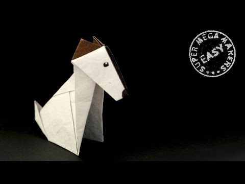 ORIGAMI DOG. How To Fold A Jack Russell Terrier - Bing Video (With