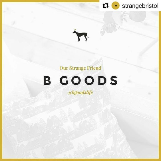Exciting things afoot.  #Repost @strangebristol with @repostapp  We are proud to welcome B Goods creators of beautiful patterned homewares for life and living into the 'Strange Friend' roster. Curated & designed by graphical power couple @filobrien & @benillustrator @bgoodslife products are the perfect compliment to your home.
