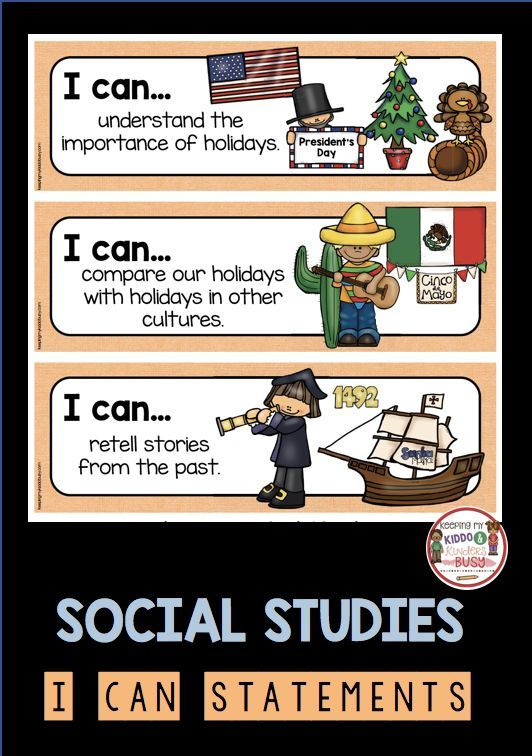 Kindergarten Standards I Can Statements Freebies Keeping My Kiddo Busy I Can Statements Kindergarten Social Studies Social Studies Lesson
