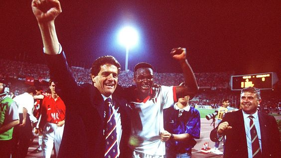 Champions League Final 1994 (Milan 4-0 Barcelona). Capello & Desailly