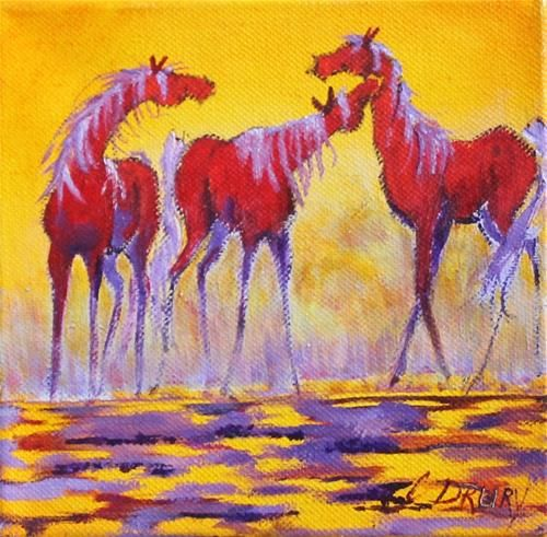 """Daily Paintworks - """"Enthralled"""" - Original Fine Art for Sale - © Colleen Drury"""