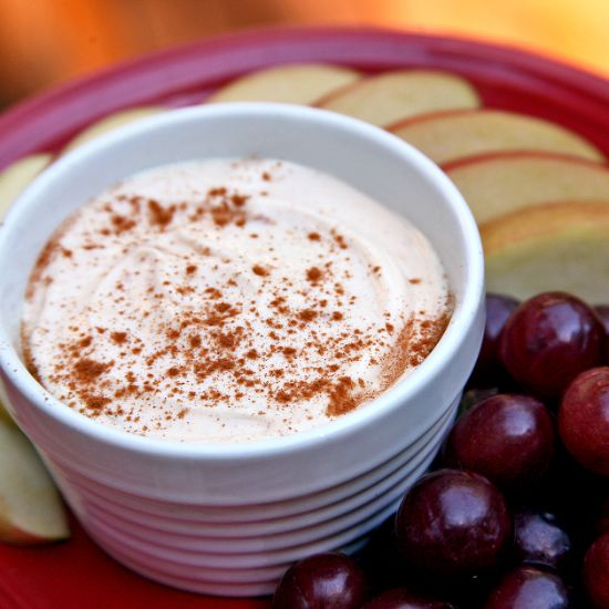 Creamy Peanut Butter Dip and Fruit Slices   Recipe ...