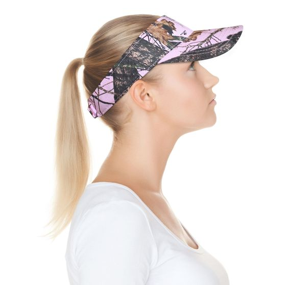 Mossy Oak Pink Camo Visor Cap Wicking Band (Camo Chique Pintrest ... 428fe34bcb52