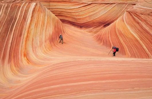 paisagem de Wave, no Arizona, EUA