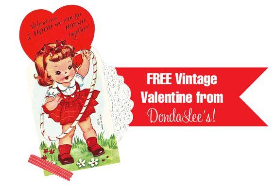 Adorable Free Vintage Valentine