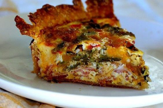 Hatch Green Chile and Bacon Quiche from 10 Breakfast Recipes to Make for Dinner